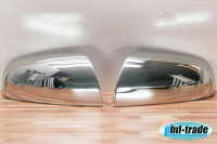 1Set Stainless Steel Mirror Caps V2A Chrome for Opel...