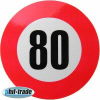 80 km/h Geschwindigkeits Aufkleber Sticker...