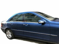 Stainless Steel Window Chrome For Mercedes C Class W203 2000-2007 4tlg Set