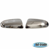 1 Set Stainless Steel Mirror Caps V2A Chrome for Chevrolet Aveo I T250 2006-2011