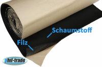 1m ² Insulating Mat with Felt anti Vibration Akustikmatte Hifi Acoustic Adhesive