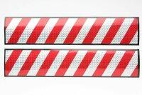2 x XL Aufkleber 50x10 3D Hologramm Warntafel rot silber...