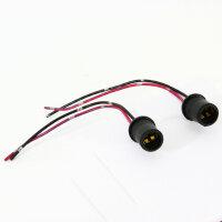 2Stk T10 Lamps Socket W5W Glass Parking Light Push in Socket Plug Side Light E19