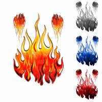 3 Flammen Flames Aufkleber ORACAL Folie Auto Tribal Tatoo verschiedene Farben