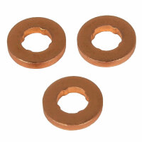 3x Copper Gasket Injector Injector for All VW 1.9 2.0 2.5 3.3 4.0 Tdi [D6]