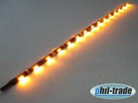 SMD LED Leiste 30cm leuchtet seitlich Strip side shine flach selbstklebend GELB
