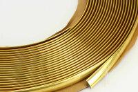 GOLD Chrom Zierleiste 10mm x 15m selbstklebend universal Auto Goldleiste Kontur