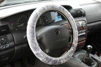 Steering Wheel Cover Grey Plush Stretch Coating Winter 37 38 39cm/MX001