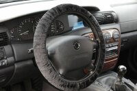 Steering Wheel Cover Black Plush Stretch Coating 37 38 39cm/MX001