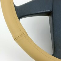 Lorry Steering Wheel Cover 44 45 46 CM Real Leather Beige Transporter [853]