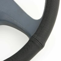 Lorry Wheel 47 48 CM Real Leather Perforated Black...