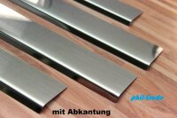 Stainless Steel Door Sill V2A Matte for Opel Zafira a with Splay 1999-2005