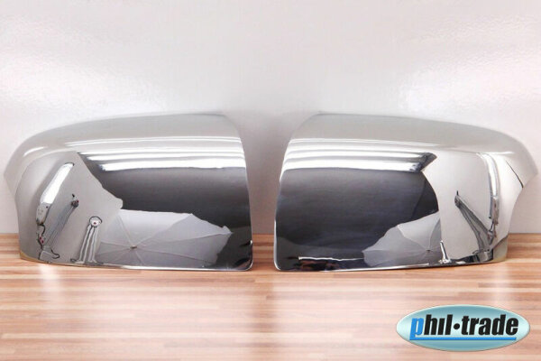 1 Set Stainless Steel Mirror Caps Chrome for Ford Focus II Mondeo III C Max Turn