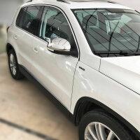 1 Set Stainless Steel Mirror Caps Chrome for VW Tiguan Yeti Sharan II Alhambra