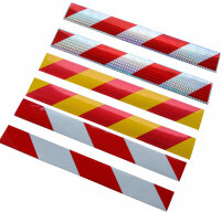 Warntafel Streifen reflektierende Reflektor Aufkleber 40 x 5cm