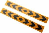 2 Bow Warning Sign Yellow Stripes Sticker Reflector Sticker 40x5cm [AN02D0]