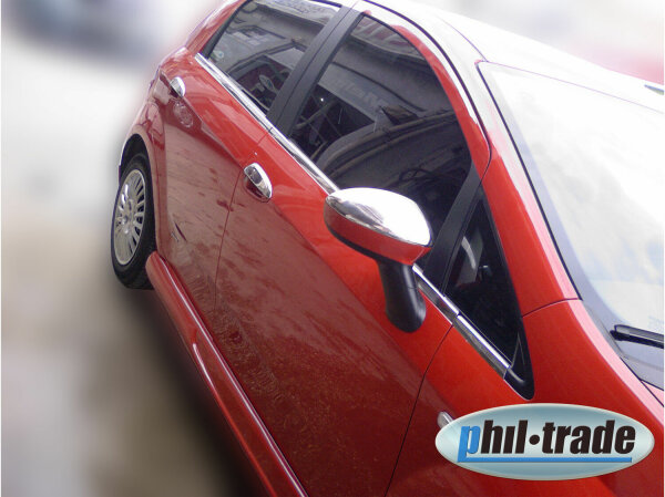 1 Set Stainless Steel Mirror Caps V2A Chrome for Fiat Grande Punto Evo and Linea
