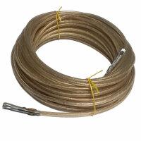 20m Zollseil, Plan Rope with Steel Cap, D=0 1/4in & 2 Seilendverschlüsse Chain