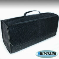 Large Felt Boot Bag Tool Bag Black with Touch Fastener 48...