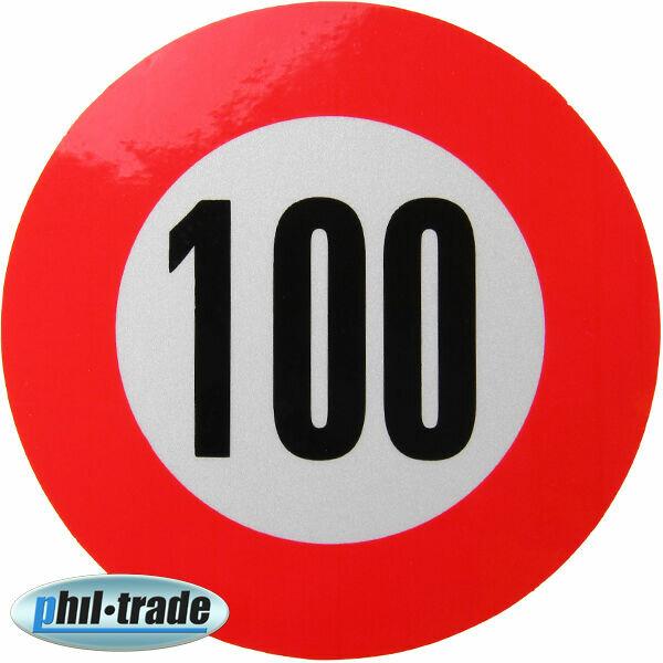 100 kmh Geschwindigkeits Aufkleber Sticker Geschwindigkeit Auto LKW Bus KFZ