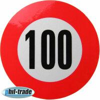 100 kmh Speed Sticker Speed Car Truck Bus Car