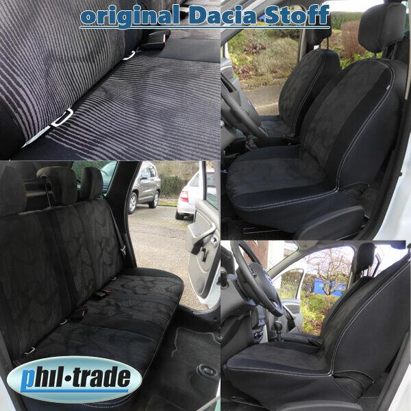 10tlg Sitzbezüge Duster Phase II ab 2013  5 Sitze 60/40 original Stoff Lauréate