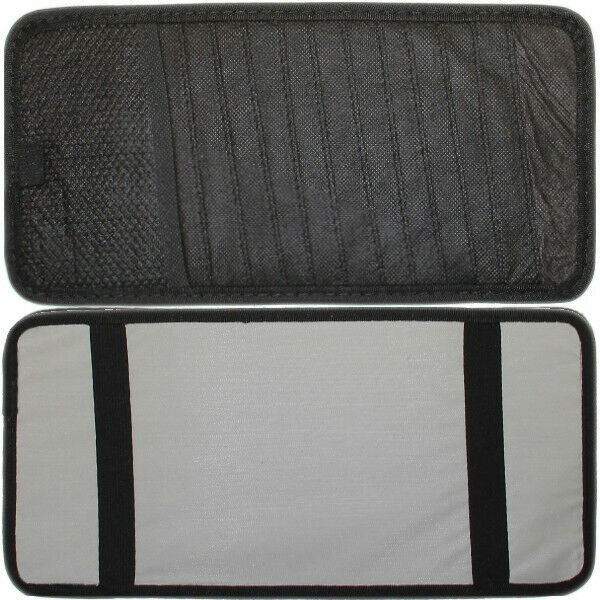 12 ft CD DVD Bag Black Storage Car Sun Visor with Case Universal