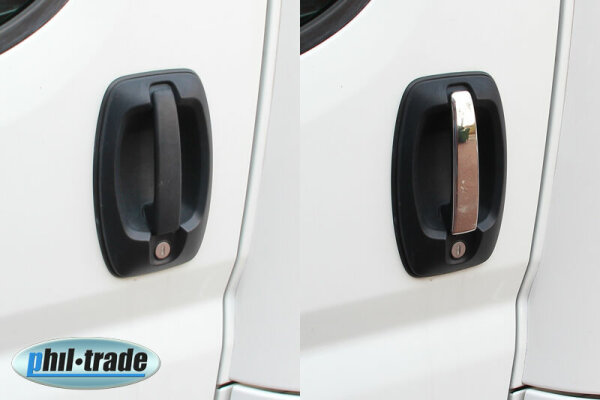 1Set Stainless Door Handle V2A for Fiat Ducato Citroen Jumper Iveco Daily Blinds