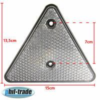 2x Reflector Triangle Rear White Pendant Lorry E-Certified R4