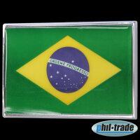 3D Chrome Emblem Sticker Flag Brazil Brazil Ordem E Progresso World Cup L058
