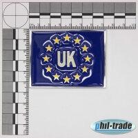 3D Chrome Emblem Sticker Flag Eu UK United Kingdom England Europe Cup World L085