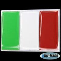 3D Chrome Emblem Sticker Flag Italy European Cup World Cup L078