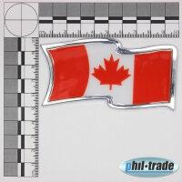 3D Chrome Emblem Sticker Flag Canada Canada Canadian Maple Leaf Flag L057