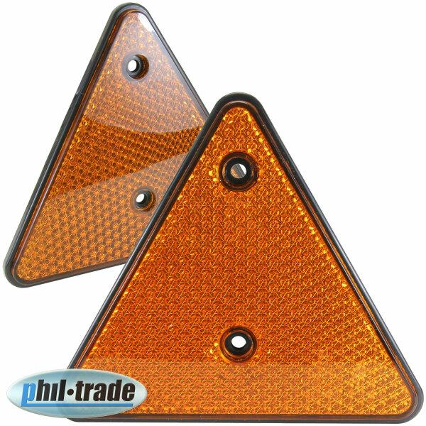 2x Reflector Triangle Rückstrahl Orange Reflector Pendant Lorry E-Certified R3