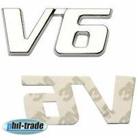 3D Chrome Metal V6 Motor Car Sticker Emblem Logo...