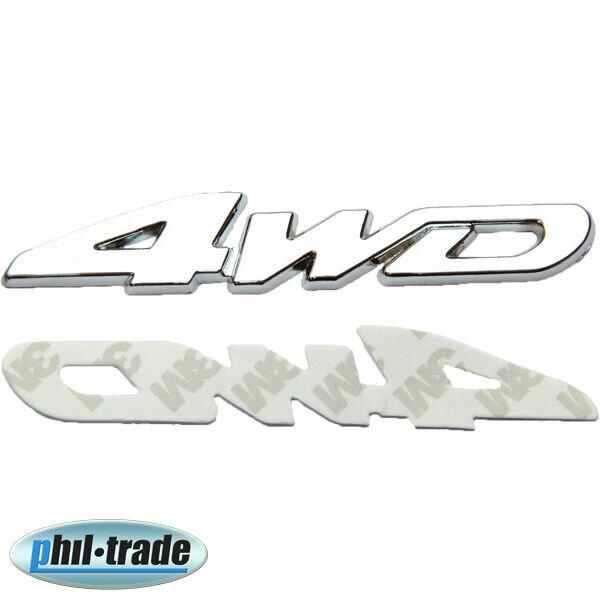 3D Metal Chrome 4WD 4x4 4-wheel off Road Sticker Emblem Logo Lettering New
