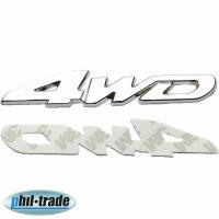 3D Metal Chrome 4WD 4x4 4-wheel off Road Sticker Emblem...