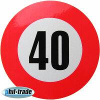 40 km / H Speed Sticker Speed Car Truck Bus Car