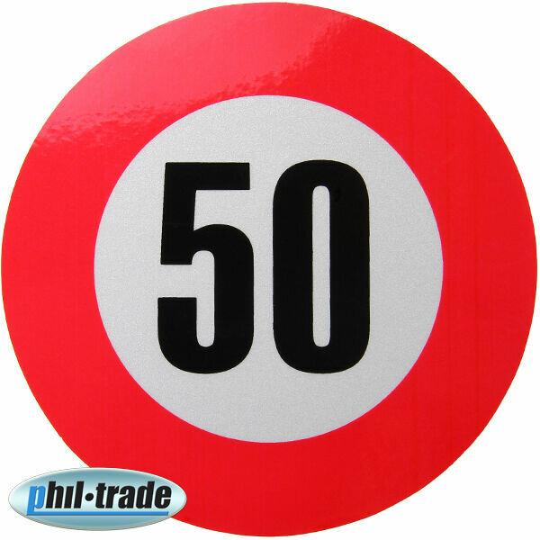 50 km/h Geschwindigkeits Aufkleber Sticker Geschwindigkeit Auto LKW Bus KFZ