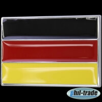 3D Chrome Emblem Sticker Flag Germany Black Red Gold European Cup World L089