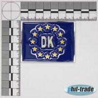 3D Chrome Emblem Sticker Flag Eu Denmark Dansk Europe Cup World L084