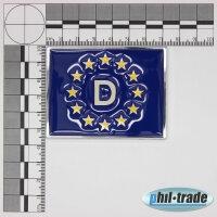3D Chrome Emblem Sticker Flag Eu Germany Europe Cup World L081