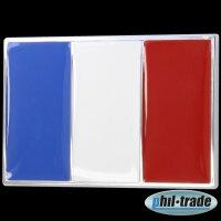 3D Chrome Emblem Sticker Flag France Drapeau Tricolor European Cup World L077