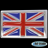 3D Chrome Emblem Sticker Flag UK GB England United Kingdom Great Britain L053