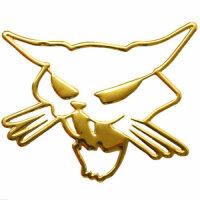 Sticker Gold Chrome 3D Emblem Cat Cat Car Motorcycle...