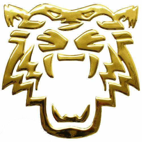 Aufkleber Sticker Gold Chrom 3D Emblem TIGER Auto Motorrad styling