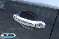 Chrome Door Handle Stainless Steel Blinds for Audi Q7 Type 4L Yr 2005-2015