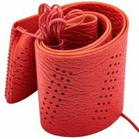 Steering Wheel Cover With Cord for Self Lacing Bright Red Universal
