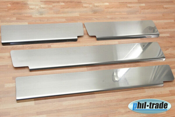 Stainless Steel Door Sill V2A Matte for Mitsubishi ASX with Splay 4tlg