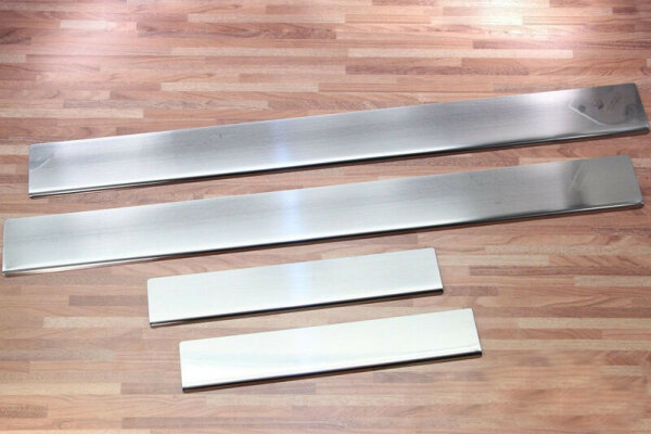 Stainless Steel Door Sill V2A Matte for VW Golf 4 Limo Variant Side Rails